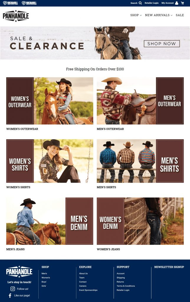 Panhandle Western Wear Conquers B2B & B2C with Magento & Creatuity 1
